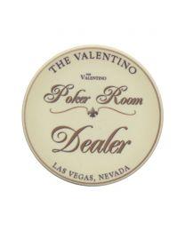Poker Room Dealer Button The Valentino