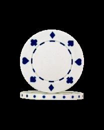 White Poker Chips Suit