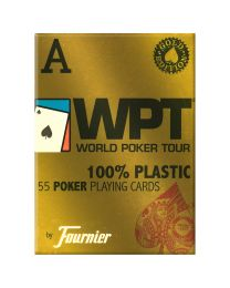 World Poker Tour Gold Cards Red by Fournier