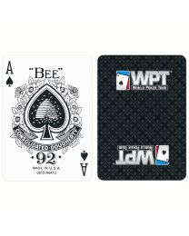 WPT Playing Cards black