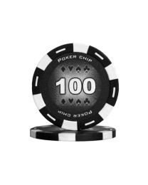 Colour poker chips black 100