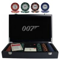 James Bond 007 Luxury Poker Set 300 Chips