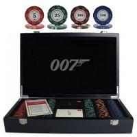 James Bond 007 Luxury Poker Set 300 Chips