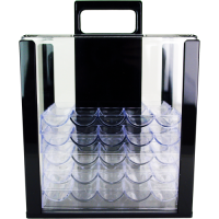 1000 poker chip capacity clear acrylic carrier