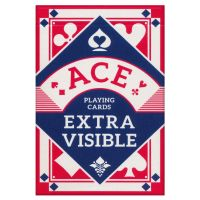 ACE Playing Cards Extra Visible Red