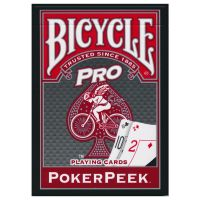 Bicycle Poker Peek Pro Playing Cards Red