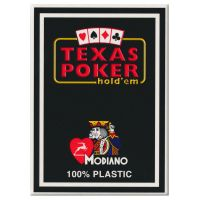 Black Texas Poker Playing Cards Modiano