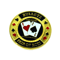 Poker Card Guard Bullets Pair of Aces