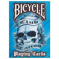 Club Tattoo Playing Cards Bicycle blue