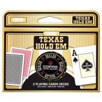COPAG Texas Holdem 2 playing cards decks