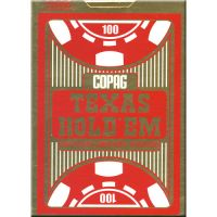 Copag texas holdem poker cards red