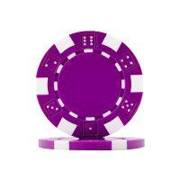 Dice Poker Chips Purple