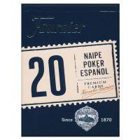 Fournier 20 Naipe Poker Español Cards Blue
