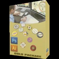 Persoonlijke poker chips design pakket goud