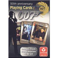 James Bond zilveren speelkaarten