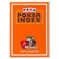 Modiano Plastic Poker Index Casino Cards Orange