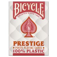 Plastic Playing Cards Deck Bicycle Prestige Red