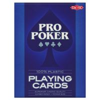 Plastic Playing Cards Pro Poker Blue