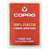 Poker cards Copag red 4 corner index
