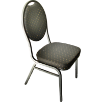 Stack Chair Poker Black
