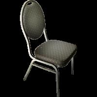 Stack Chair Poker Black