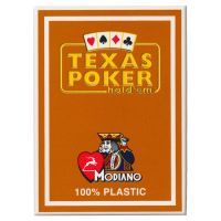 Texas Poker Holdem Modiano Cards Brown