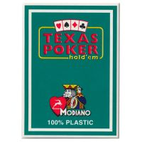 Texas Poker Holdem Modiano Cards Green