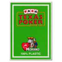 Texas Poker Holdem Modiano Cards Light Green