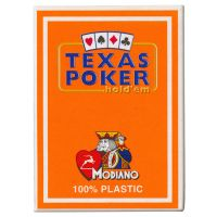 Texas Poker Holdem Modiano Cards Orange