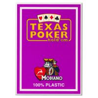Texas Poker Holdem Modiano Cards Purple