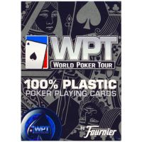 WPT speelkaarten Fournier blauw