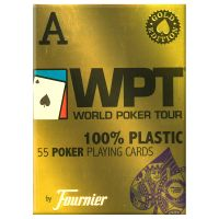 World Poker Tour Gold Cards Blue by Fournier