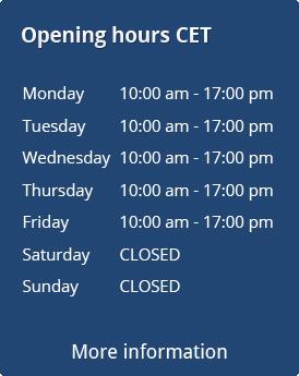opening hours poker shop